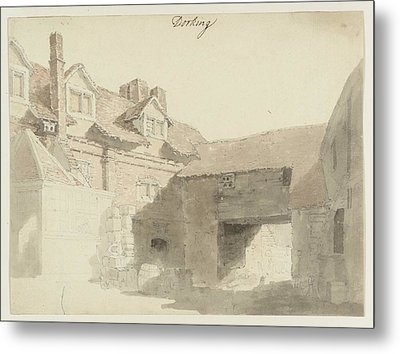 The Back Yard Of An Inn At Dorking Metal Print