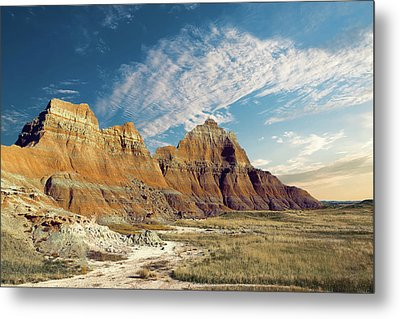 The Badlands Of South Dakota Metal Print by Tom Mc Nemar
