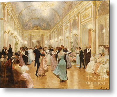 The Ball Metal Print by Victor Gabriel Gilbert