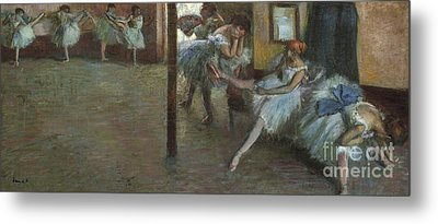 The Ballet Rehearsal, 1891 Metal Print