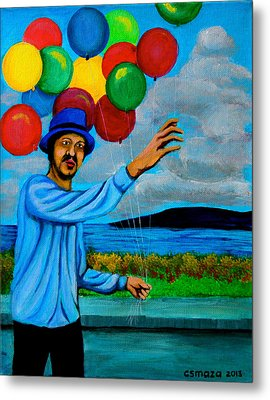 The Balloon Vendor Metal Print