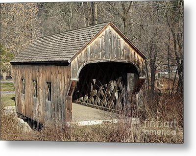 The Baltimore Covered Bridge - Springfield Vermont Usa Metal Print by Erin Paul Donovan