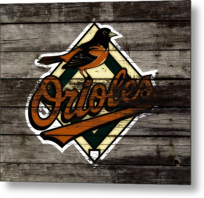 The Baltimore Orioles W2                          Metal Print by Brian Reaves