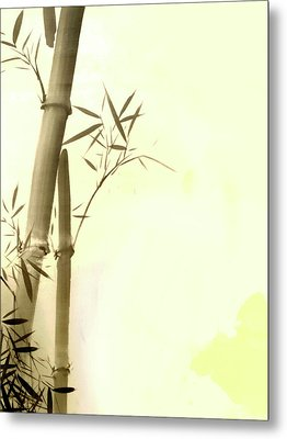 The Bamboo Branch Metal Print