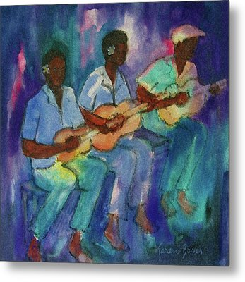 The Band Boys Metal Print by Karen Bower