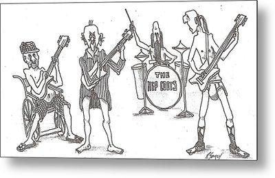 The Band Metal Print by R  Allen Swezey