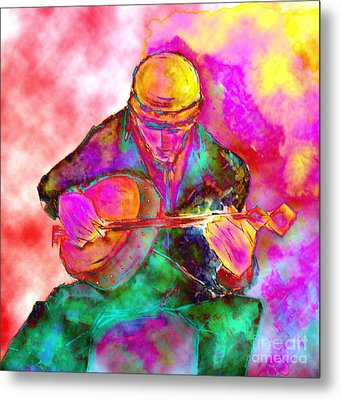 The Banjo Player Metal Print