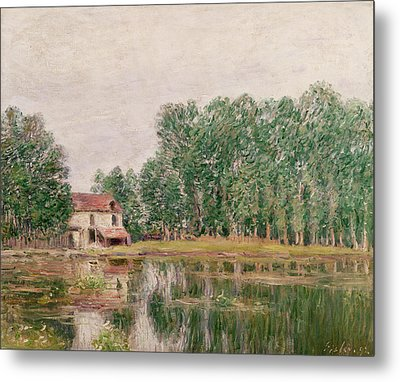 The Banks Of The Canal At Moret Sur Loing Metal Print by Alfred Sisley