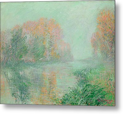 The Banks Of The Eure Metal Print by Gustave Loiseau