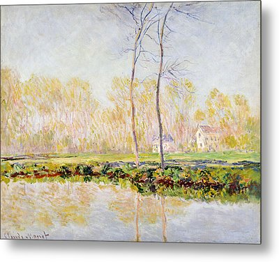 The Banks Of The River Epte At Giverny Metal Print by Claude Monet