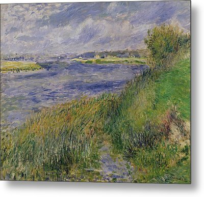 The Banks Of The Seine Champrosay Metal Print by Pierre Auguste Renoir