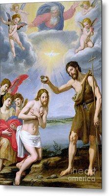 The Baptism Of Christ Metal Print by Ottavio Vannini