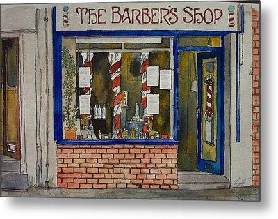 The Barber Shop Metal Print by Victoria Heryet