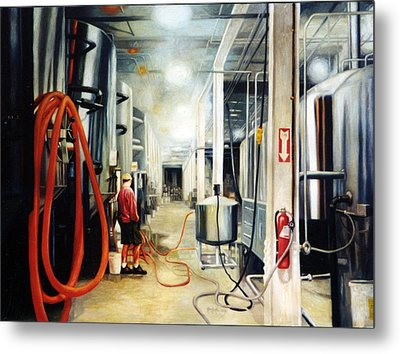 The Bashful Brewer Metal Print by Gregg Hinlicky