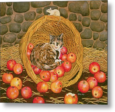 The Basket Mouse Metal Print by Ditz