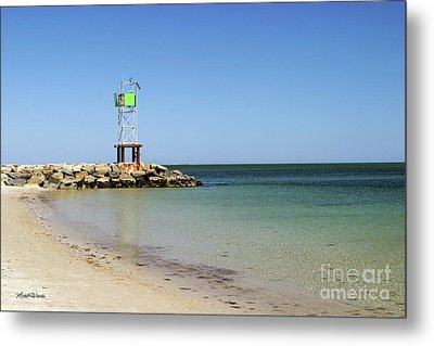 The Bass River Jetty South Yarmouth Cape Cod Massachusetts Metal Print by Michelle Wiarda