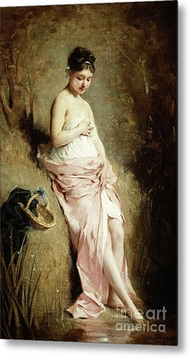 The Bather Metal Print by Charles Joshua Chaplin