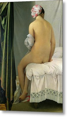 The Bather Metal Print by Jean Auguste Dominique Ingres