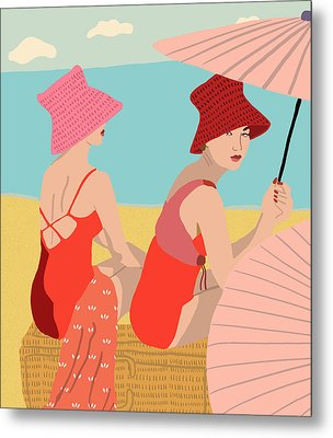 The Bathers Metal Print by Nicole Wilson