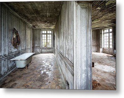 The Bathroom Next Door - Urban Exploration Metal Print