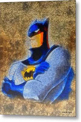 The Batman - Pa Metal Print by Leonardo Digenio