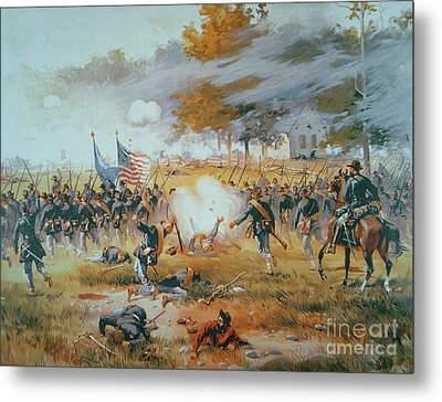 The Battle Of Antietam Metal Print by Thure de Thulstrup