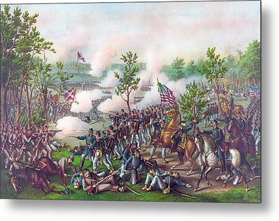 The Battle Of Atlanta, Metal Print