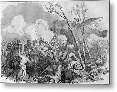 The Battle Of Bull Run Metal Print by War Is Hell Store