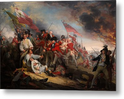 The Battle Of Bunker's Hill Metal Print