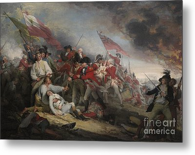 The Battle Of Bunker's Hill On June 17th 1775 Metal Print