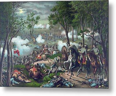 The Battle Of Chancellorsville Metal Print