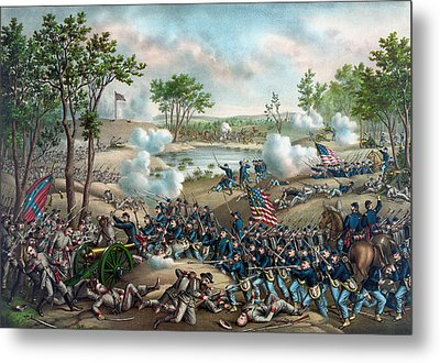 The Battle Of Cold Harbor Metal Print by War Is Hell Store