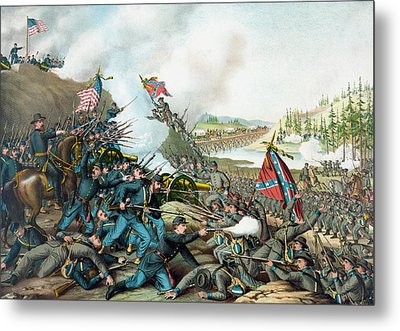 The Battle Of Franklin - Civil War Metal Print by War Is Hell Store