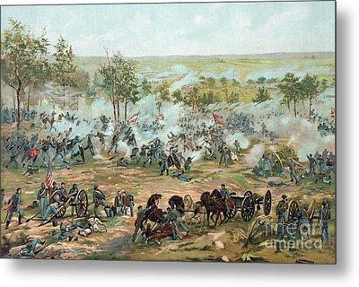 The Battle Of Gettysburg Metal Print