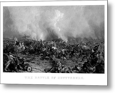 The Battle Of Gettysburg Metal Print by War Is Hell Store