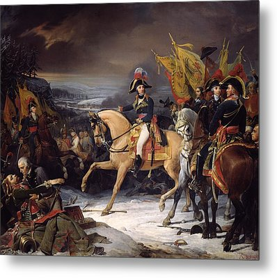 The Battle Of Hohenlinden Metal Print by Henri Frederic Schopin