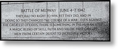The Battle Of Midway Metal Print by Allen Beatty