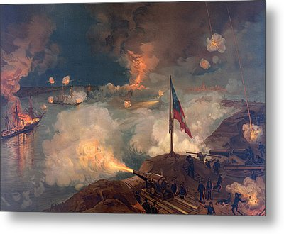 The Battle Of Port Hudson, 1863  Metal Print
