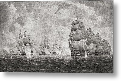 The Battle Of Pulo Aura, 1804. From The Metal Print
