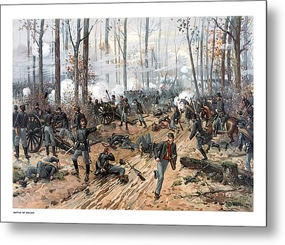 The Battle Of Shiloh Metal Print by War Is Hell Store