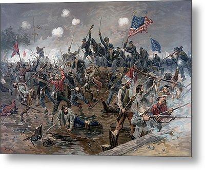 The Battle Of Spotsylvania Court House - Civil War Metal Print by War Is Hell Store