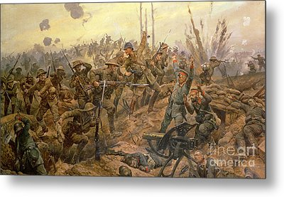 The Battle Of The Somme Metal Print by Richard Caton Woodville II
