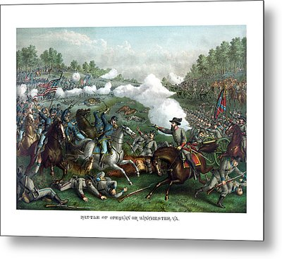 The Battle Of Winchester Metal Print by War Is Hell Store