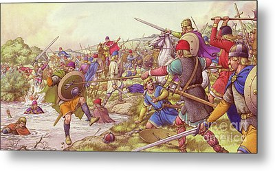 The Battle Of Winwaed  Metal Print by Pat Nicolle