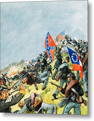 The Battlefield At Gettysburg Metal Print