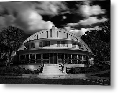 The Bay Front Community Center Bw Metal Print