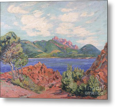 The Bay Of Agay Metal Print by Jean Baptiste Armand Guillaumin
