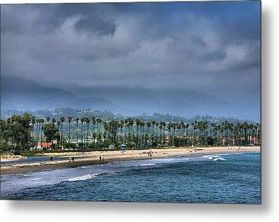 The Beach At Santa Barbara Metal Print by Steven Ainsworth