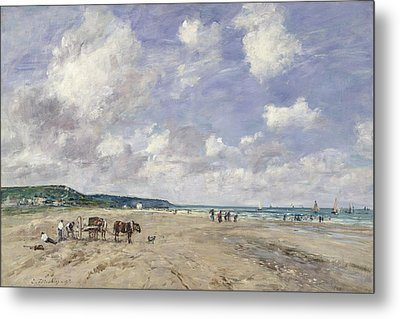 The Beach At Tourgeville Metal Print by Eugene Louis Boudin