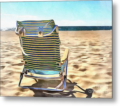 The Beach Chair 2 Metal Print by Edward Fielding